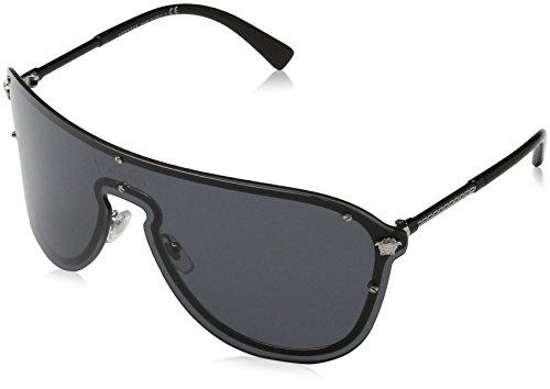 Versace Damen 0VE2180 100087 44 Sonnenbrille, Silber (Silver/Grey)