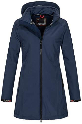 A. Salvarini Damen Softshell Jacke wasserabweisend Outdoor lang AS-131 [AS-131-Navy-Gr.S]