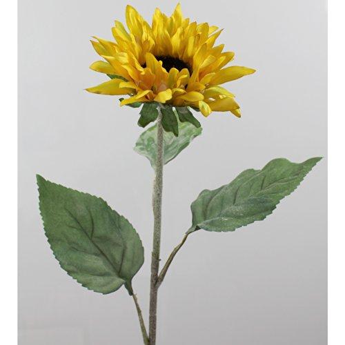 artplants Künstliche Sonnenblume, gelb-grün, Ø 15 cm, 85 cm – Kunst Sonnenblume