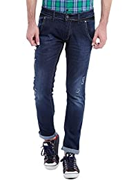 Seasons Classy Navy Blue Slim Fit Jeans For Men