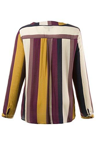 Ulla Popken Femme Grandes tailles Blouse Fashion Sexy Chemisier Haut Eté Manches Longues Casual Shirt Tops 706305 cerise foncé