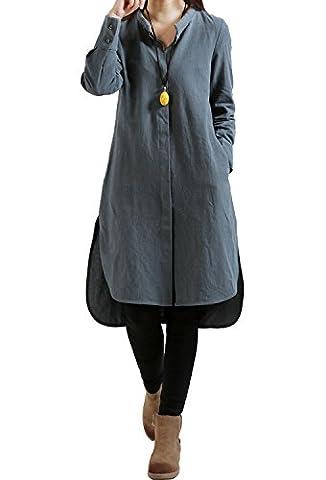 Hqclothingbox - Robe - Décontracté - Femme - gris - XL