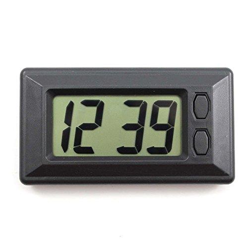 REFURBISHHOUSE Ultra Dünne LCD Digital Anzeige Fahrzeug Auto Armaturen Brett Uhr Mit Kalender Cool (Anzeige Brett)