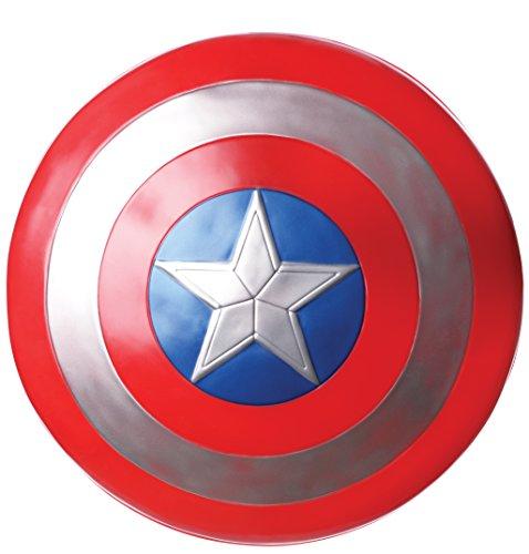 Captain America Retro Schild, aus Kunststoff, ca. 60cm - Winter Soldier Kostüm Zubehör