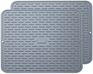 To encounter Silicone Drying Mat -Flexible Silicone Dish Draining Mat - Sink Mat - Heat Resistant Large Silico