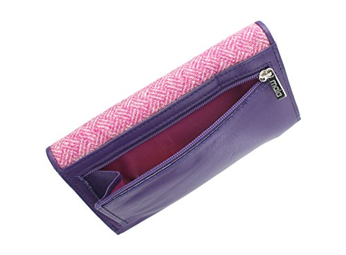 Pelle Mala Leather Collection ABERTWEED & Tweed Flap Negli borsa 3175_40 rosa confetto Candy Pink