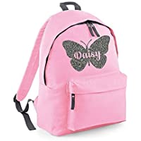 Personalised Butterfly Name Backpack Rucksack School bags Girls Personalised Bags