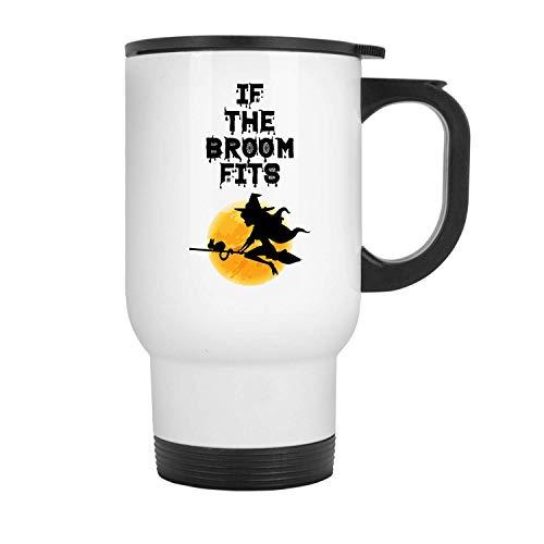 its Best Halloween, Great Gift Idea Halloween (Broom) - 11 oz Travel Mug By Mirasuper ()
