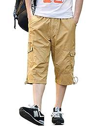 Kasen Hombres Suelto Color Sólido Leisure Pantalones Cortos Trabajando Shorts