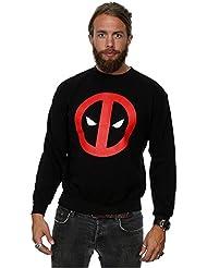 Marvel Homme Deadpool Clean Logo Sweat-Shirt