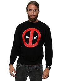 Marvel Herren Deadpool Clean Logo Sweatshirt