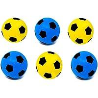 Balón de fútbol (espuma, talla 5), 3 Blue + 3 Yellow