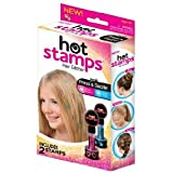 Cpixen NEW Hot Stamps Hearts & Stars Hair Glitter Just Press & Dazzle 4 Stamps
