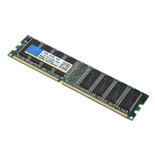 ASHATA DDR Arbeitsspeicher, PC-2700 Desktop-PC DDR 333MHz Speichergeschwindig 1GB RAM 184Pin Speichermodul,Für AMD Motherboard - 1g 1gb 333mhz Ddr Pc