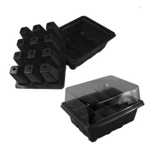 nava-black-2-sets-cloning-insert-tray-clone-grow-box-plants-seeds-propagation-kit