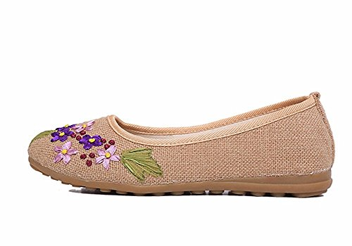 HOMEE Lady brodé rétro national vent chaussures occasionnels 38 Eu