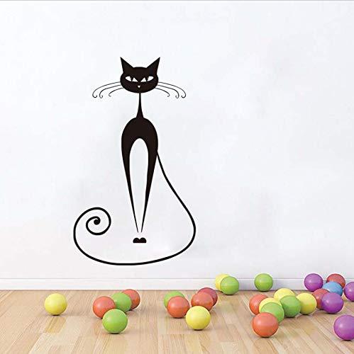 WFYY Persische Katze Moderne Aufkleber Wandaufkleber Für Wohnzimmer Pet Shop Modernes Dekor Tapete Wasserdichte Entfernbare Wandkunstwand - Persische Dekor