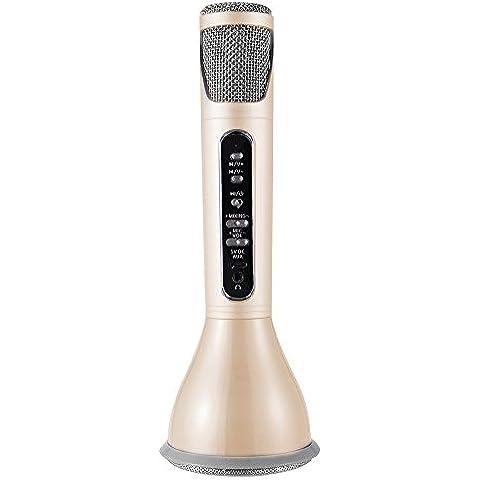 XCSOURCE® Mini portátil de mano K068i Karaoke Player Bluetooth inalámbrico altavoz micrófono Efecto KTV Inicio KTV USB recargable Oro TH511
