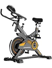 GZMUK - Health & Personal Care Estacionaria de Bicicleta de Ejercicios de Fitness Resistencia Ajustable con Monitor de Pantalla de Inicio Entrenamiento de la Gimnasia Equipo Cardio Ciclismo Giro