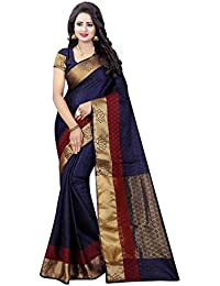 satyam weaves women's ethnic wear jari bordered cotton silk saree. (wonder)