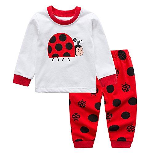 Baywell Baby Bekleidungsset, Langram Karikatur Marienkäfer Drucken T-Shirt -