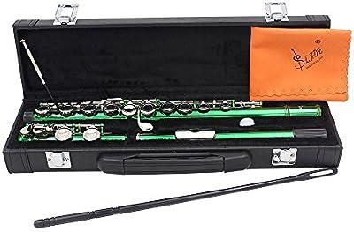 XIE@Reid 16 hoyos C flauta limpieza distribución barra verde instrumento de viento, tela, los puntos de engrase y un destornillador