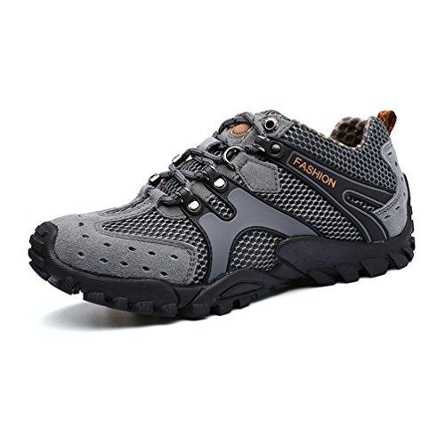 XIGUAFR Chaussures de Randonnée Pour Homme Respirant Chaussures de Sport en Plein Air Printemps et Automne Anti-Dérapant
