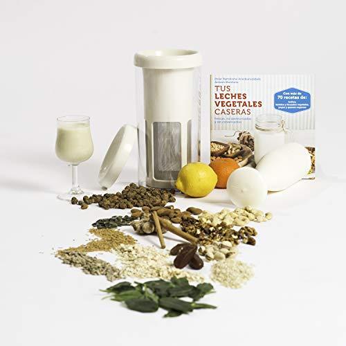 Vegan Milker Classic (by Chufamix), Filtro para Hacer leches Vegetales con Cualquier semilla. Elabora 1 litro en 1 Minuto. Made in Europe. E-Book de Recetas (Enlace en el Manual de Instrucciones)