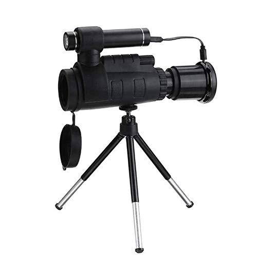 WQYRLJ Teleskop 40X60 HD Zoom Optische Spiegel Fernglas Nachtsicht Einrohr Handy Teleobjektiv Im Freienjagd Mit Stativ