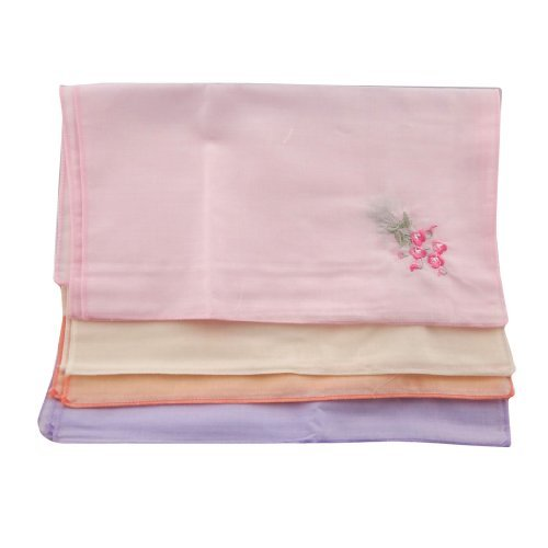 OWM Handkerchief Pack of 6 Classic Vintage Women Handkerchiefs Set