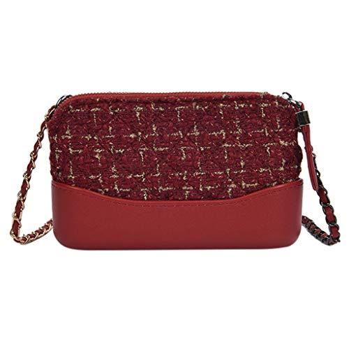 SSUPLYMY One-Shoulder Handtaschen Frauen Messenger Bag Mädchen Tasche Mode Wild Small Square Chain Schulter Querschnitt Square Bag Umhängetaschen Strandtaschen Schultaschen -