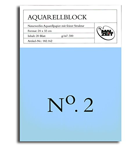 Aquarellblock No. 2 24x32cm 20 Blatt 300g/qm