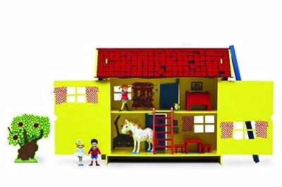 Pippi Langstrumpf 44.3688.00 - Casa de muñecas de Pipi Calzaslargas (en madera) por Glow2B