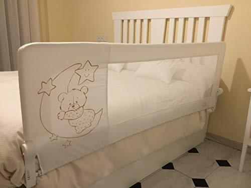 Barrera de cama nido para bebé, 180 x 66 cm. Modelo osito...