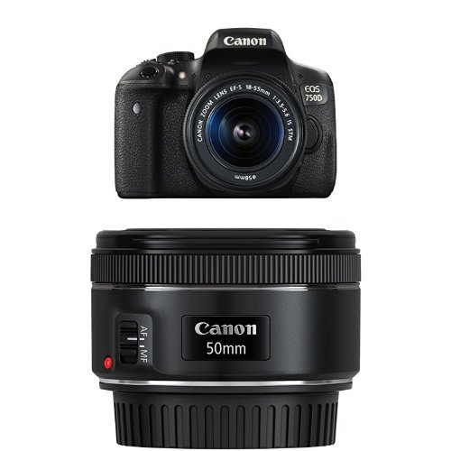 Canon EOS 750D Digital SLR Camera with 18-55 mm IS STM Lens and EF 50 mm 1.8 STM Lens Review