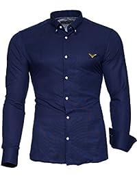 KAYHAN Herren Hemd Modell Oxford Slim Fit Bügelleicht, Super Modern, Super Qualität