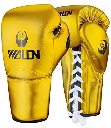 NMDD Erwachsene Allgemeine Boxhandschuhe Kampf Sanda Training Sandsäcke Kampf Muay Thai Professionelle Handschuhe Arbeitshandschuhe (Farbe: Gold, Größe: 12 Unzen)