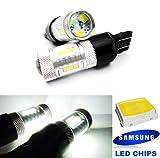 2x Blanc 582W21W 580W21/5W ampoule LED Samsung veilleuses côté Indicateur de signal Queue Arrêt inversée lumière du jour DRL