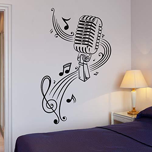 zqyjhkou Neue Musik Karaoke Mikrofon Blatt Große Dekoration Vinyl Wandaufkleber Abziehbilder Für Teen Schlafzimmer Wohnzimmer Yy187 42x70 cm