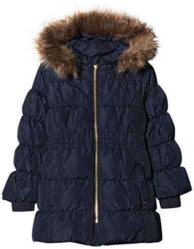 NAME IT Mädchen NKFMOLLY DOWN Jacket Camp Jacke, Blau Dark Sapphire, (Herstellergröße: 128)