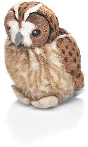 Peluche oiseau sonore: Chouette hulotte