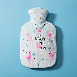 Drizzle Wärmflasche mit Deckel Tier Flamingo Geschenke für Kinder Familien Freundinnen   Hot & Cold Therapien