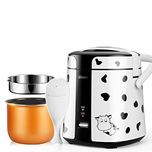 EGC Mini-Reiskocher 1-2 Personen zu Hause Kleine Elektroherd Single,Weiß