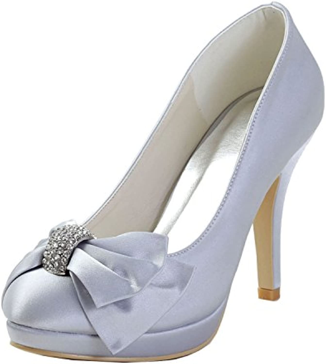 6d556e2a7d09 MINITOO GYMZ648 Womens Pointed Toe Stiletto Heel Silver Silver Silver Satin  Knot Bridal Wedding Shoes UK 9 B074RZ2GX5 Parent a3dd85