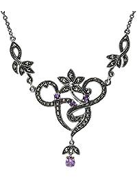 Esse Marcasite Collar Corto Mujer plata - 214N1701-01