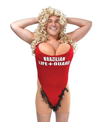 shoperama Lustiges Herren-Kostüm Rettungsschwimmerin Hairy Mary Rettungsschwimmer haarig, - Rettungsschwimmer Kostüm Lustig
