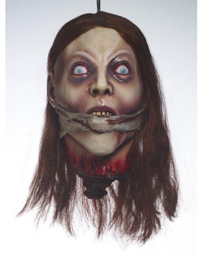 e Deko Hammer lebensgroße Body Bad Leichensack inklusive Frauenleiche (Kopf) mit geknebeltem Mund Horror Sensations Schocker (Leichensack Halloween)