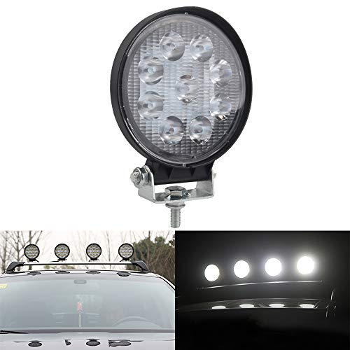 1 pz 4 Inch 27 W faretto tondo Spot Beam LED luce di lavoro bar Faro Impermeabile LED 12 V per Off Road 5WD SUV ATV UTV Camion Moto trattori Guidare Fendinebbia