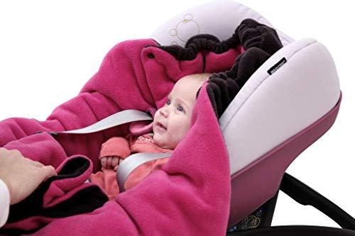 """ByBoom® – Baby Winter-Einschlagdecke """"Das Original mit dem Bären"""", Universal für Babyschale, Autositz, z.B. für Maxi-Cosi, Römer, für Kinderwagen, Buggy oder Babybett, Farbe:Anthrazit/Grau - 8"""