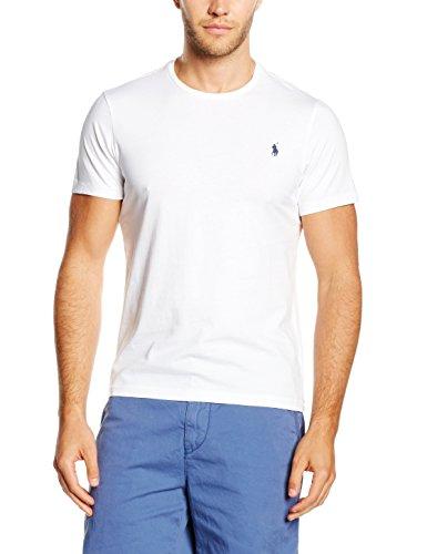Polo Ralph Lauren Herren Crew T/S T-Shirt, Weiß (WHITE A1000), X-Large
